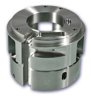 machined alternator end cap for offshore oil drill